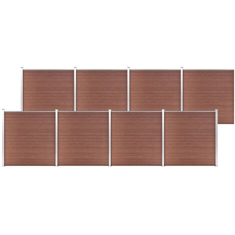 vidaXL Garden Fence WPC 1391x186 cm Brown - Brown