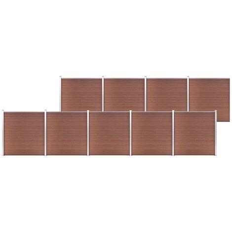 vidaXL Garden Fence WPC 1564x186 cm Brown - Brown