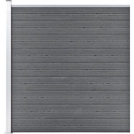 "main image of ""vidaXL Garden Fence WPC 175x186 cm Grey - Grey"""