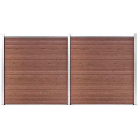 vidaXL Garden Fence WPC 353x186 cm Brown - Brown