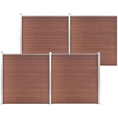 vidaXL Garden Fence WPC 699x186 cm Brown - Brown