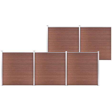 vidaXL Garden Fence WPC 872x186 cm Brown - Brown