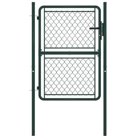 vidaXL Garden Gate Steel 100x125 cm Green - Green