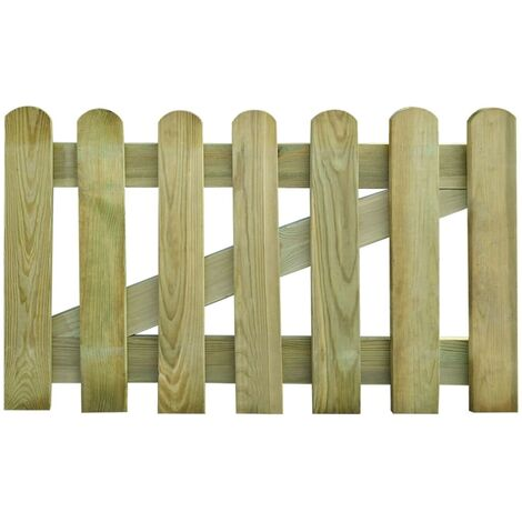 vidaXL Garden Gate Wood 100x120 cm - Brown