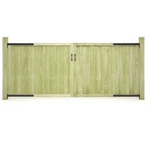 vidaXL Garden Gates 2 pcs Impregnated Pinewood 300x125 cm - Green