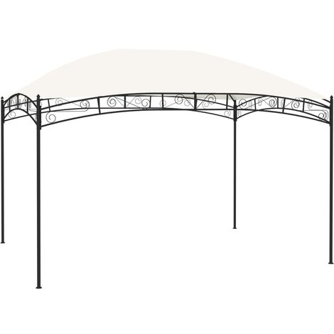 vidaXL Garden Gazebo 4x3 m Cream 180 g/m² - Cream