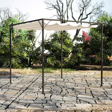 vidaXL Garden Gazebo with Retractable Roof 3x3 m 180 g/m² Taupe - Taupe