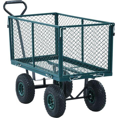 "main image of ""vidaXL Garden Hand Trolley Green 350 kg"""