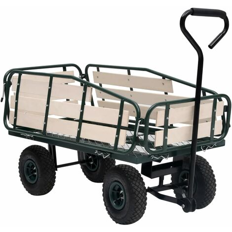 "main image of ""vidaXL Garden Hand Trolley Metal and Wood 250 kg"""