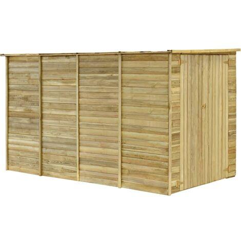 vidaXL Garden House Shed 315x159x178 cm Impregnated Pinewood - Brown