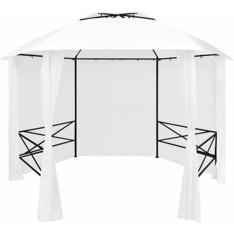 vidaXL Garden Marquee with Curtains 360x312x265 cm White 180 g/m² - White
