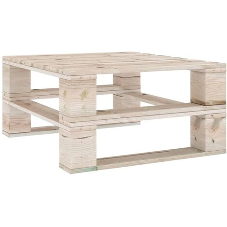vidaXL Garden Pallet Table Impregnated Pinewood - Brown