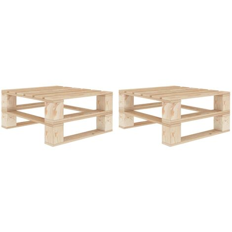vidaXL Garden Pallet Tables 2 pcs Wood - Brown