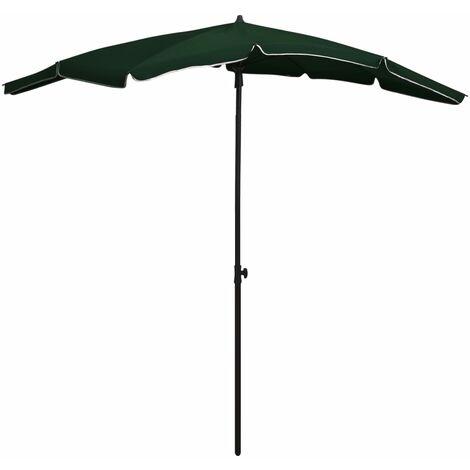 vidaXL Garden Parasol with Pole 200x130 cm Green - Green