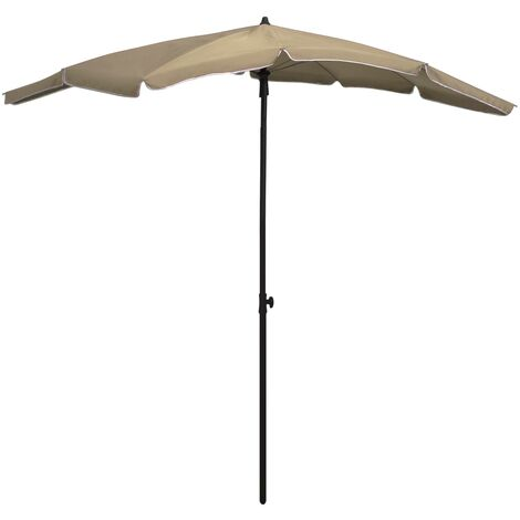 vidaXL Garden Parasol with Pole 200x130 cm Taupe - Taupe