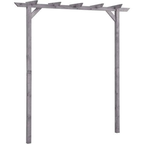 vidaXL Garden Pergola Grey 200x40x205 cm Impregnated Pinewood - Grey