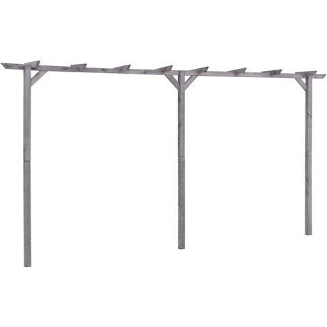 vidaXL Garden Pergola Grey 400x40x205 cm Impregnated Pinewood - Grey