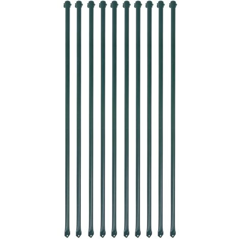"""main image of """"vidaXL 10x Garden Posts Metal Green Fencing Plant Supports Spikes Multi Sizes"""""""