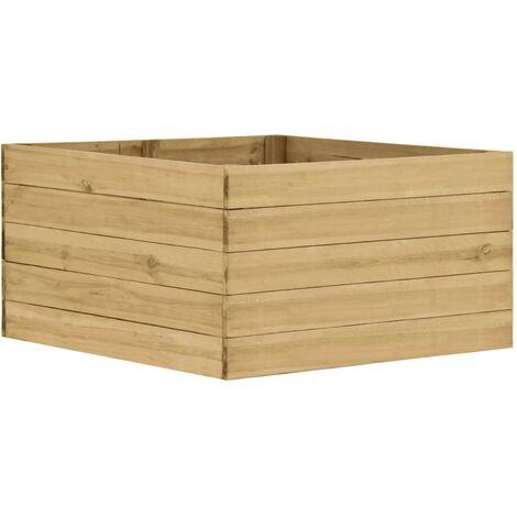 vidaXL Garden Raised Bed 100x100x54 cm Impregnated Pinewood - Brown