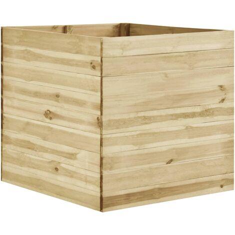 vidaXL Garden Raised Bed 100x100x97 cm Impregnated Pinewood - Brown