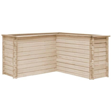 vidaXL Garden Raised Bed 150x150x80 cm Solid Pinewood - Brown