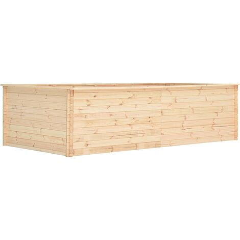 vidaXL Garden Raised Bed 300x150x80,5 cm Pinewood 19 mm - Brown
