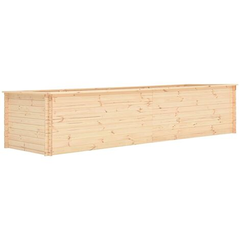 vidaXL Garden Raised Bed 450x100x80,5 cm Pinewood 19 mm - Brown