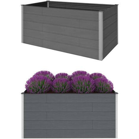 vidaXL Garden Raised Bed Grey 200x100x91 cm WPC - Grey