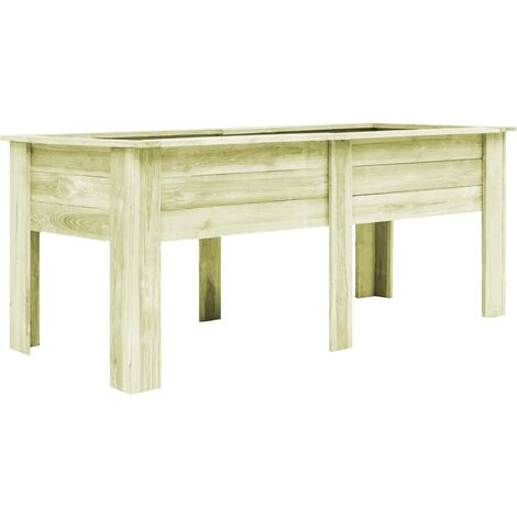 vidaXL Garden Raised Bed with Feet 200x80x80 cm Impregnated Sawn Wood - Green