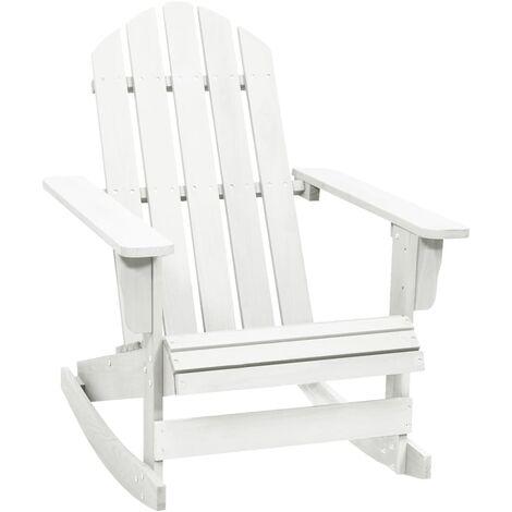 vidaXL Garden Rocking Chair Wood White - White