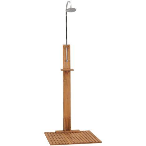 vidaXL Garden Shower 75x75x210 cm Solid Teak Wood - Brown