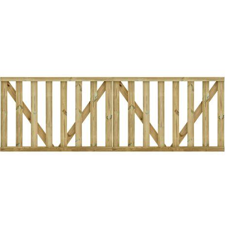 """main image of """"vidaXL Garden Slats Gates 2 pcs Impregnated Pinewood 150x100 cm - Brown"""""""