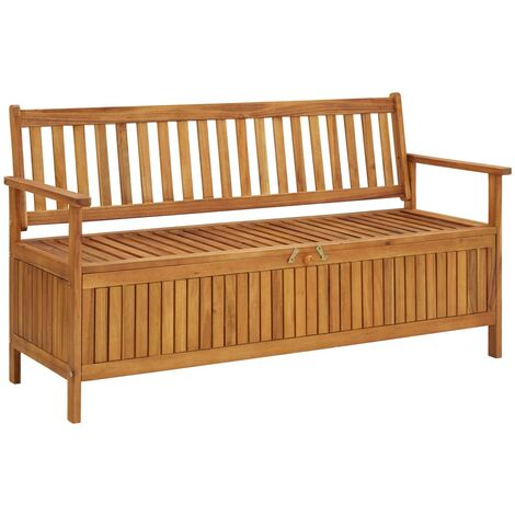 vidaXL Garden Storage Bench 148 cm Solid Acacia Wood - Brown