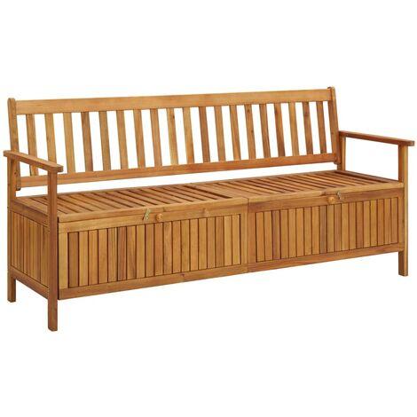 vidaXL Garden Storage Bench 170 cm Solid Acacia Wood - Brown