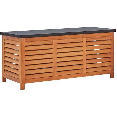 vidaXL Garden Storage Box 117x50x55 cm Solid Eucalyptus Wood - Brown