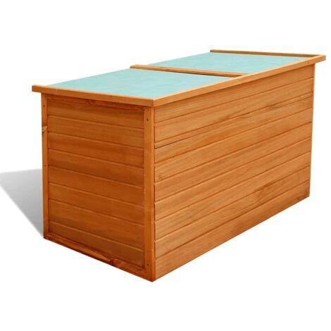 vidaXL Garden Storage Box 126x72x72 cm Wood - Brown