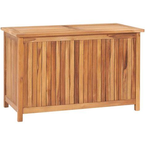 vidaXL Garden Storage Box 90x50x58 cm Solid Teak Wood - Brown