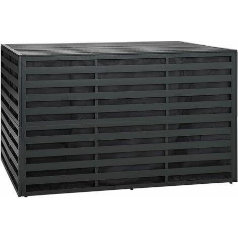 vidaXL Garden Storage Box Aluminium 150x100x100 cm Anthracite - Anthracite