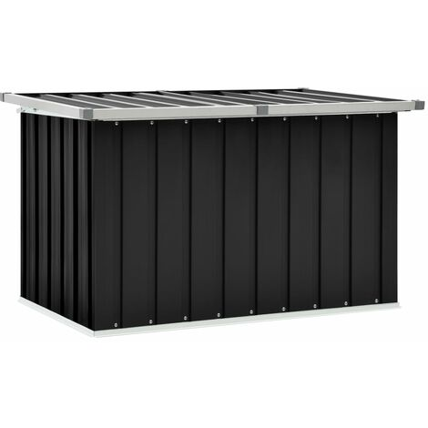 vidaXL Garden Storage Box Anthracite 109x67x65 cm - Anthracite