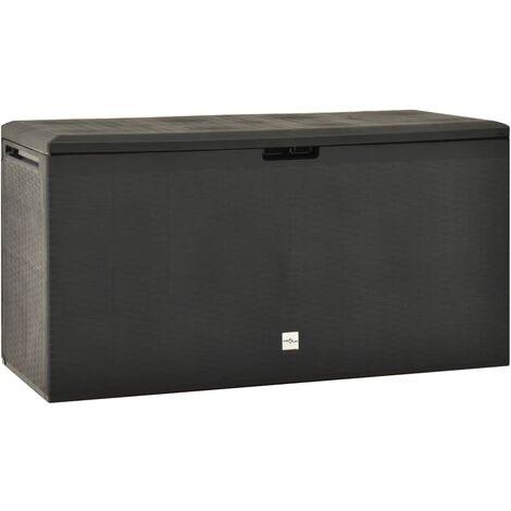 vidaXL Garden Storage Box Anthracite 114x47x60 cm - Anthracite