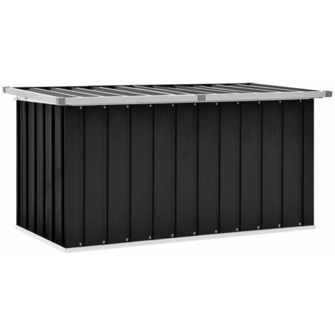 vidaXL Garden Storage Box Anthracite 129x67x65 cm - Anthracite