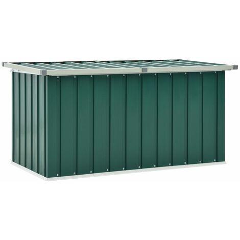 vidaXL Garden Storage Box Green 129x67x65 cm - Green