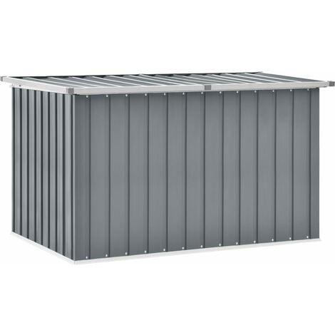 vidaXL Garden Storage Box Grey 149x99x93 cm - Grey