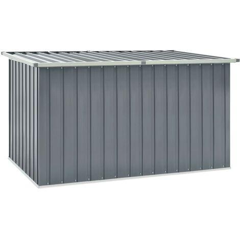vidaXL Garden Storage Box Grey 171x99x93 cm - Grey