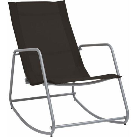 vidaXL Garden Swing Chair Black 95x54x85 cm Textilene - Black