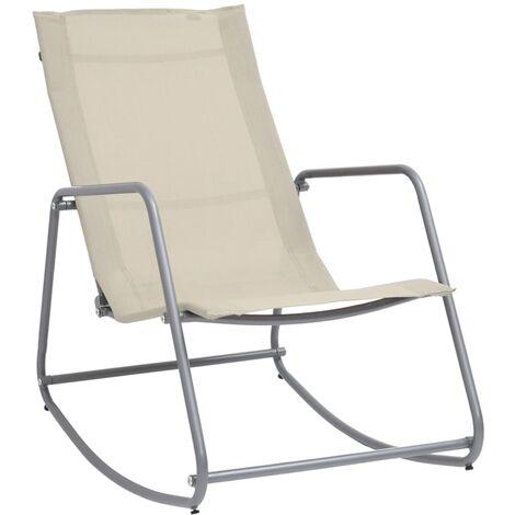 vidaXL Garden Swing Chair Cream 95x54x85 cm Textilene - Cream