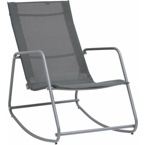 vidaXL Garden Swing Chair Grey 95x54x85 cm Textilene - Grey