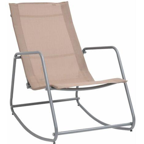 vidaXL Garden Swing Chair Taupe 95x54x85 cm Textilene - Taupe