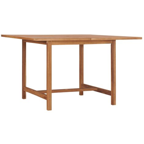vidaXL Garden Table 120x120x75 cm Solid Teak Wood - Brown