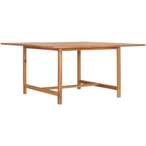 vidaXL Garden Table 150x150x76 cm Solid Teak Wood - Brown